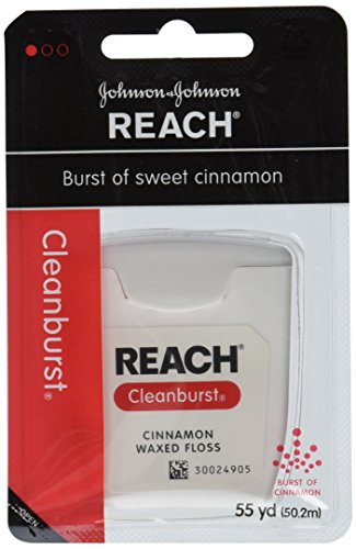 Johnson and Johnson Reach Clean Burst Waxed Floss, Cinnamon, 6 Count