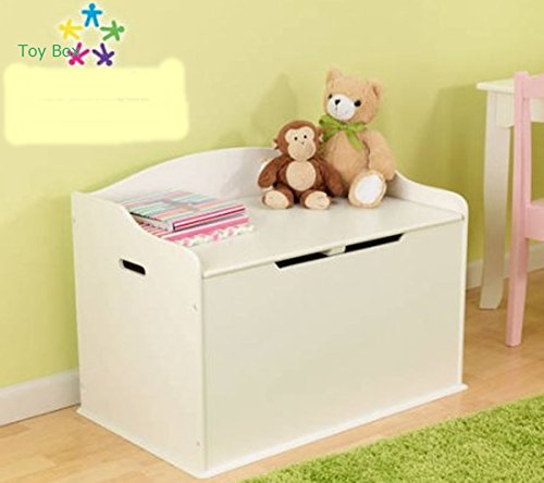 Toy Box, Functional, Vanilla, Safety Hinge on Lid Protects Young Fingers from Getting Pinched, Made of Wood, Doubles as a Bench for Additional Seating, Easy to Put Together, BONUS FREE E-book by Home X Style