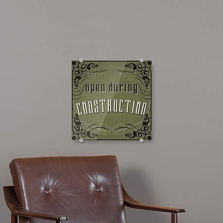 CGSignLab 5-Pack Victorian Gothic Premium Brushed Aluminum Sign Open During Construction 16x16