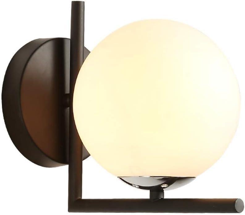 Moddeny Simple Moderna de la Pared de luz Edison Industrial E27 Cierre Redondo Bola de Cristal lámpara de Pared del Anuncio Hierro Forjado Bedisde Lectura de iluminación Decorativa de Entrada Oficina