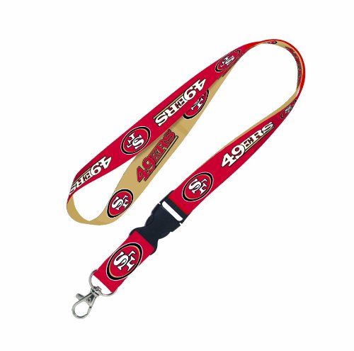 - NFL San Francisco 49ERs Lanyard with detachable buckle