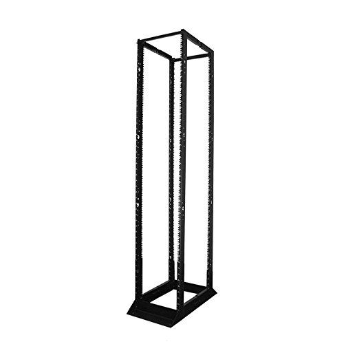 Quest Manufacturing 4-Post Open Frame Steel Floor Rack, Adjustable Depth by QUEST MANUFACTURING