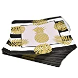 Pineapple with Gold Foil Party Supplies Set 24