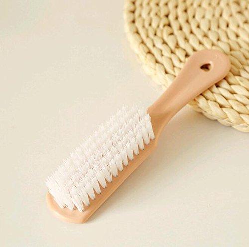 CWAIXX Lavar el piel zapatos zapato cepillo plástico multiuso piso cepillo para limpiar el cuarto de baño lavandería ropa escobillas las escobillas del collar , Verde