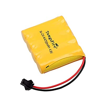 4.8V 700mAH Battery Rock Off-Road Ni-Cd AA Battery SM 2P Plug with USB Charging Cable Four Wheels Race Car