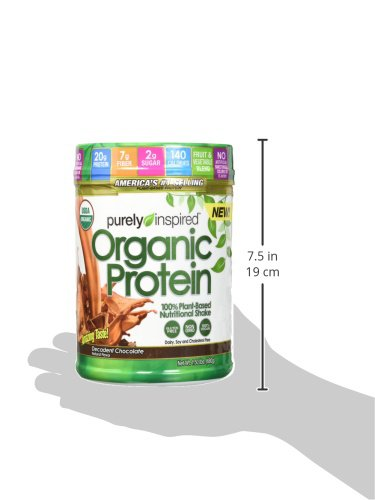 Purely Inspired Organic Protein Shake Powder, 100% Plant Based with Pea & Brown Rice Protein (Non-GMO, Gluten Free, Vegan Friendly), Decadent Chocolate, 1.5lbs by Purely Inspired (Image #9)