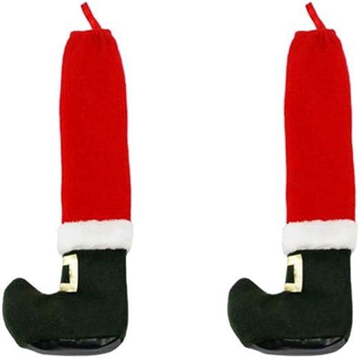 Toyvian 2 Piezas de Silla de Navidad pies Cubren Patas de Mesa ...
