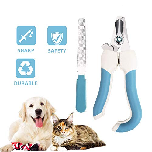 Aritan Dog Nail Clippers and Trimmer with Safety Guard and Nail Grind File, Professional Stainless Large Dog Cat Rabbit Bird Nail Scissor, Pet Grooming Nail Care Tool at Home