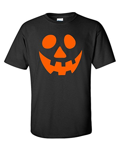 Smiley Pumpkin Emoticon Smiley Face Graphic Costume Funny Halloween T-Shirt XLT (Nerdy Halloween Costumes Ideas)