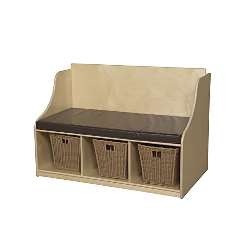 Wood Designs Kids Furniture WD990248 Reading Bench with Storage by Wood Designs