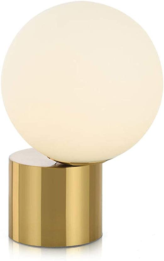 Lámpara de Mesa LED, lámpara con Textura Dorada Estructura del ...