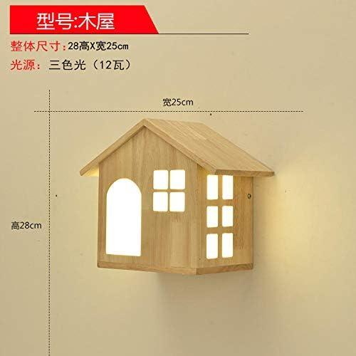 wandleuchte innen aussen led Solid Holz LED kreativer Holzlampshad für den Speisesaal Korridor, kreatives Holzhaus