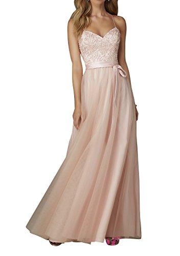 mia Promkleider Rosa Partykleider La Langes Brau Brautjungfernkleider Bodenlang Abendkleider Festlichkleider Neu Tuell Spitze A7d8S