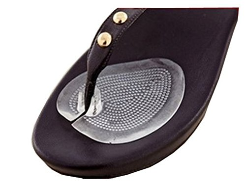 Right Heel Guard (Ewandastore 1 Pair Relax Walking Soft Flip Gel Cushions for Sandal Flip-flop with Gel Toe Guards Cushions Thong Protectors Left Right Protecet the Sensitive Skin the Big and Second Toe)