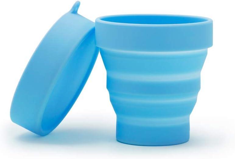 Vasito esterilizador Clín plegable para la copa menstrual de Platanomelón (Azul)