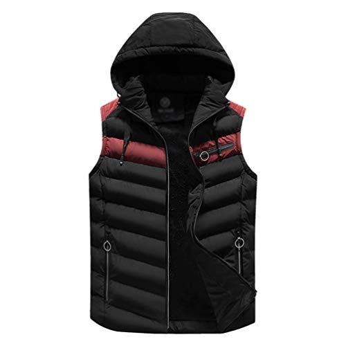Vêtements À Homme En Warmer Noir Duvet D'extérieur Matelassée Veste Zkooo Légère Body Pour Gilet Capuche 4w0xqzI