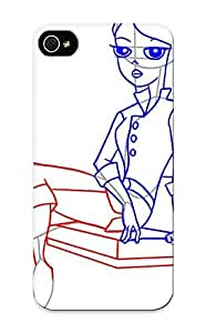High Quality Shock Absorbing Case For Iphone 5/5s-how To Draw Vanessa From Phinea And Ferb Tep 4 wangjiang maoyi