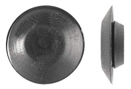 Solid Push In Rivet, Plastic, 1/2'' L, 0.500'', Black - pack of 5 by Unknown