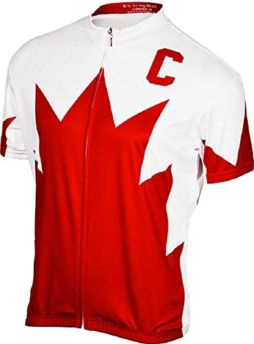 It's in my Heart Team Canada Men's Cycling Jersey (X-Large) Red