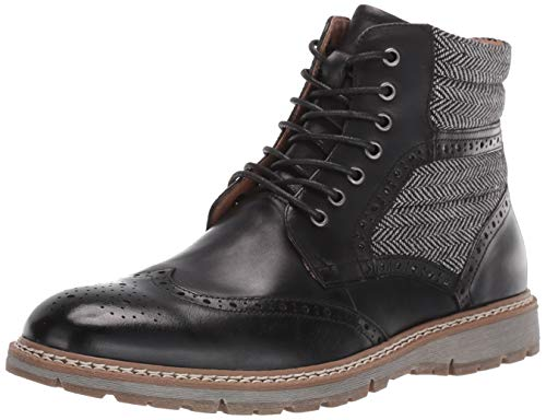 STACY ADAMS Mens Granger Wingtip Lace-up Boot Fashion