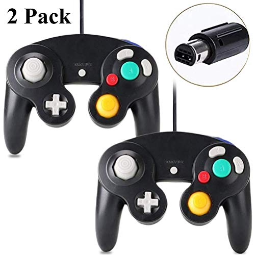 Gamecube Controller - FIOTOK Wired Controllers Classic Gamepad for Nintendo Game Cube & Wii Console Game Remote 2 Pack Black
