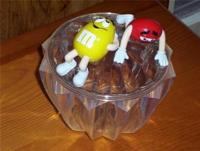 Official M & M Red & Yellow's Collectible Candy Dish