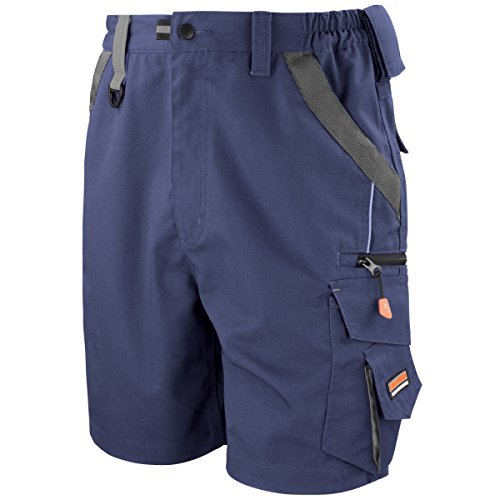 Result Workguard Unisex Technical Work Shorts (2XL) (Navy/Black) by Result Work-Guard