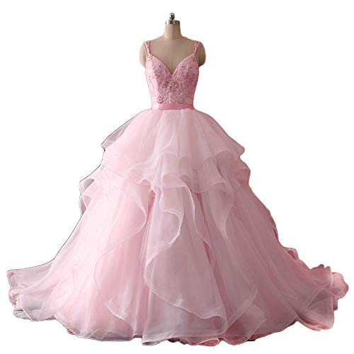 Chupeng Tube De Luxe Cristaux De Perles Supérieure Mariée Robe De Mariée Des Femmes 2017 Organza Robe De Bal De Mariage De Rose