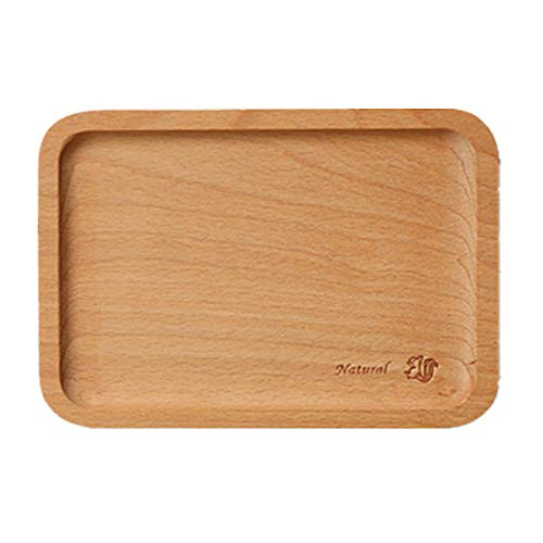 Small Wooden Tray (B&S FEEL Small Rectangle Wooden Tea Serving Tray Dessert Tray, 7.28-inch by)