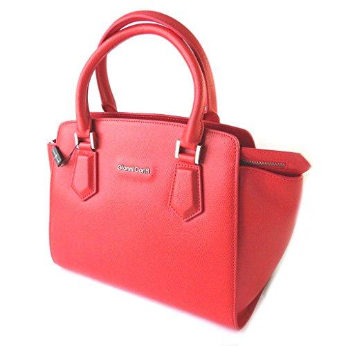 Gianni Conti [N6111] - Sac cuir 'Gianni Conti' rouge - 33x26. 5x16 cm