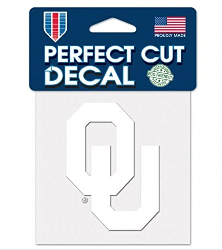 WinCraft NCAA Oklahoma Sooners 4x4 Perfect Cut White Decal, One Size, Team Color ()