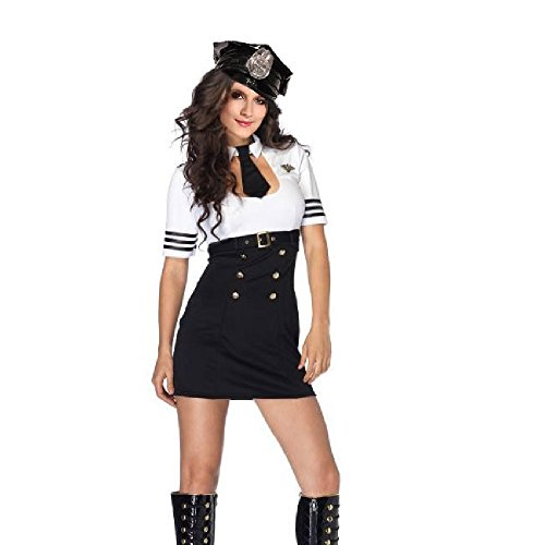 GDreamer Sexy Pilot Captain Dress Suit Costume no Hat Halloween Party One (Captain Mile High Costume)