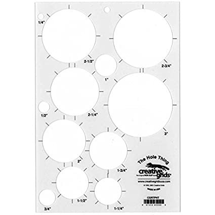 amazon com creative grids the hole thing quilting ruler template