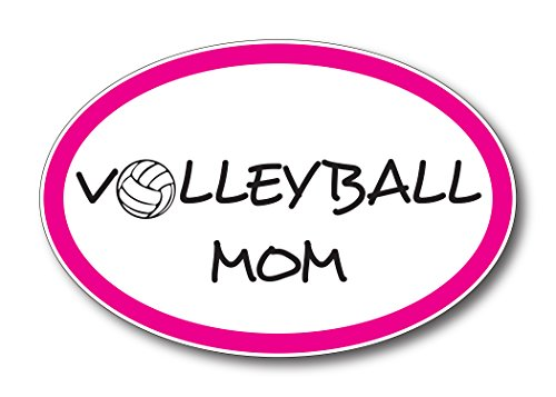 Volleyball Mom Car Magnet Decal 4 x 6 Oval Heavy Duty for Car Truck SUV -