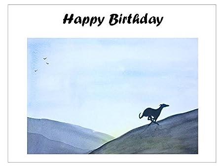 Birthday Card Running Greyhound Whippet Lurcher Italian Dog Gift