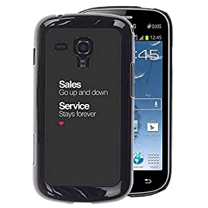 A-type Arte & diseño plástico duro Fundas Cover Cubre Hard Case Cover para Samsung Galaxy S Duos S7562 (Sales Service Business Office Corporate)
