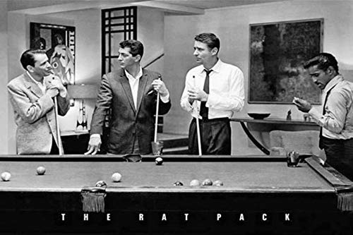 Buyartforless Rat Pack Playing Pool Photograph 36x24 Music Poster, Print, Decorative Accent, Wall Art Multi-Color