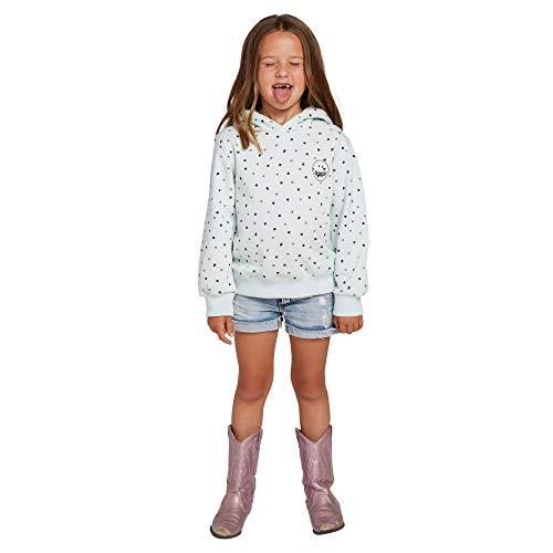 Volcom Womens Little Girls' Knew Wave Hoodie Sweatshirt, smokey blue, 3T