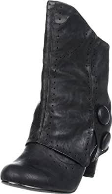 Not Rated Women's News Flash Ankle Boot,Black,7 M US