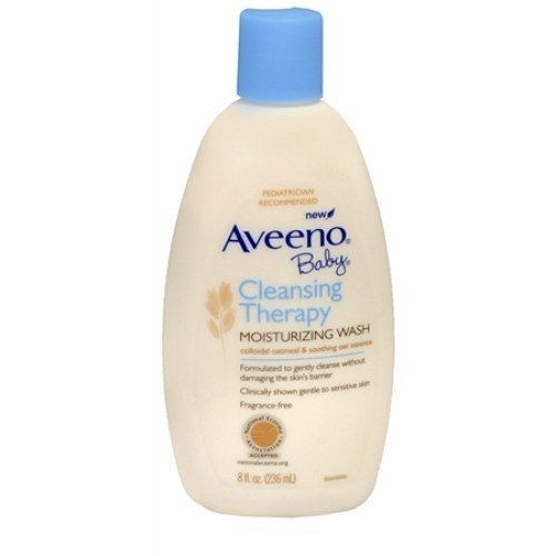 Aveeno Baby Cleansing Therapy Moisturizing Wash  Fragrance Free 8 Oz  140 G