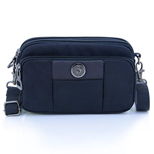 (Essential Phone Belt Clip Waist Hip Pack Travel Messager Purse Crossbody Bag 3 Way Universal Water Resistant(Horizontal-Coffee))