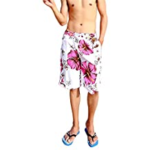 X-sports Men's Printed Beach Board Shorts Surf Swim Sports Casual Wear Trunks Pants
