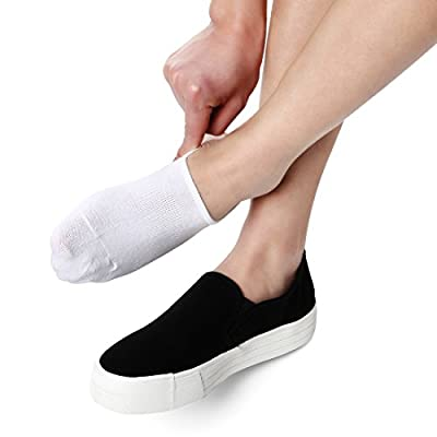 No Show Socks Women Non Slip Low Cut Cotton Liner Sports Casual Socks 6 Pairs at  Women's Clothing store