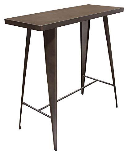 Diamond Sofa Rectangular Duke Bar Height Metal Table