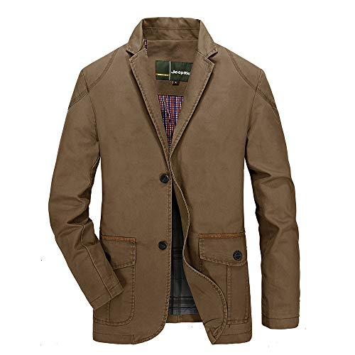 Inverlee-Mens Autumn Winter Fashion Single Row Buckle Pure Color Long Sleeve Suit Coat from Inverlee-Mens