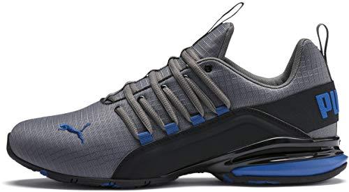 - PUMA Men's Axelion Sneaker, Castlerock Black-Galaxy Blue, 10.5 M US