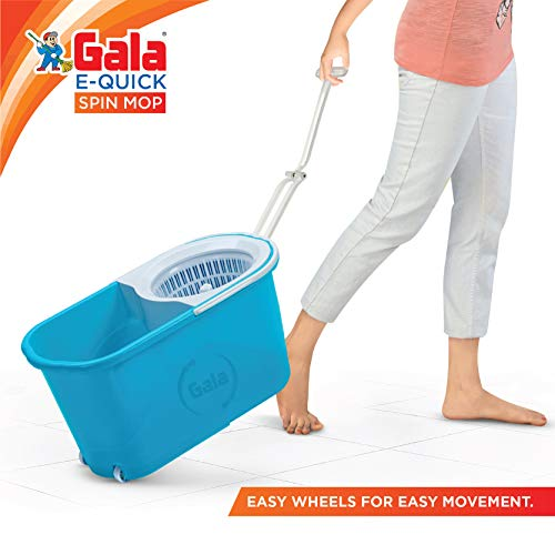 Gala e-Quick Spin Mop with Easy Wheels and Bucket at best price
