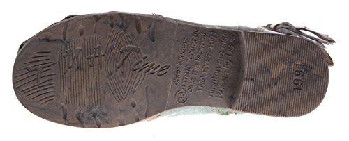 Leder Damen Stiefeletten Comfort Boots Knöchel Schuhe Schwarz Blau Rot Grün Weiß TMA 5001 Halbschuhe Grün