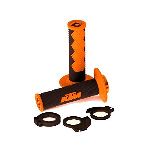 KTM CLOSED LOCK ON HAND GRIP SET 1999-2013 300 350 450 XC XCW EXC (Ktm Grip Set)