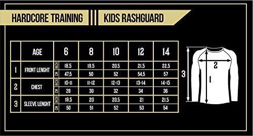 Hardcore Training Kids Rash Guard MMArio Fitness Boxing MMA BJJ Sport
